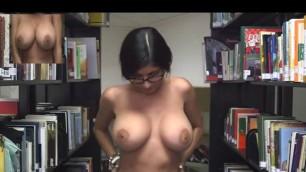 Mia khalifa public library naked