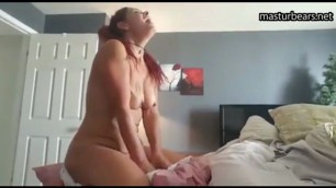 Masturbating with ginger in my ass