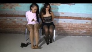 Two girls spend Jail time in chains