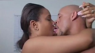 The sublime pussy of a pretty ebony woman gets fucked