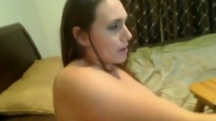 Brunette Gf Enjoys Riding And Sucking On Her Bfs Donger