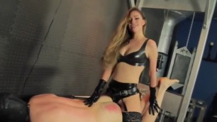 Sexy blonde lyra law pegging ass