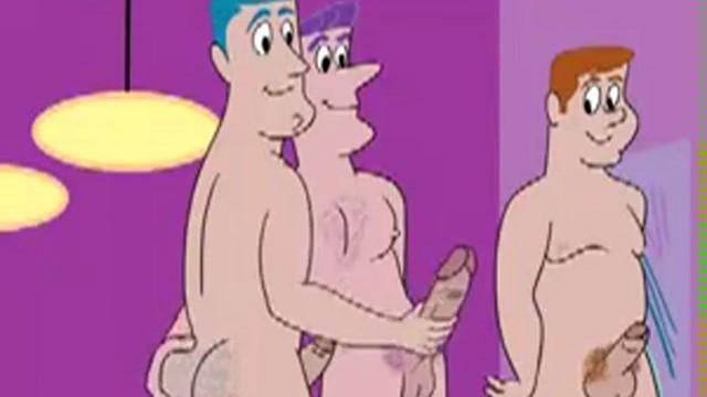 Six gay cartoon porn