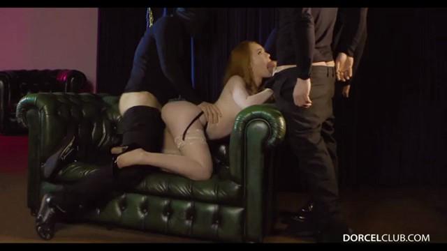 Horny Bitch Total Gang Bang With Ella Hughes