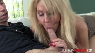 PlatinumPornstar step mother teaching her stepson the pleasures of sex