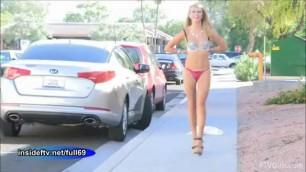 Lauren Cute homemade blonde show and walking nude in public