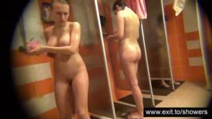 public shower with many hot amatuers