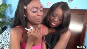 WANKZ- GorgeousEbony Lesbians Christie and Brandi