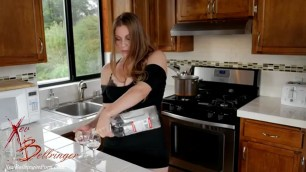 Sexy housewife in the kitchen obsessed with the hostess s big ass htm