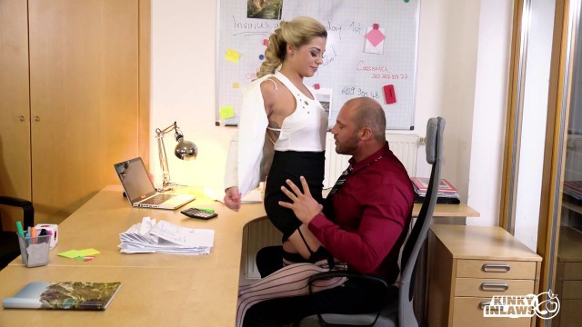 Nicole LoveBella Scaris Naughty FFM threesome with hot Czech stepdaughter and secretary