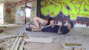 Tattooed redhead fucks policeman