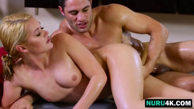 Blonde Masseuse Abby Cross Gets Banged In Bathroom
