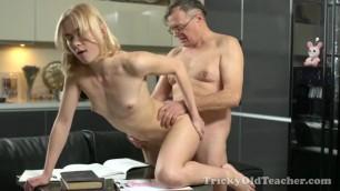 Via Lasciva Young blonde fucks with a mature man