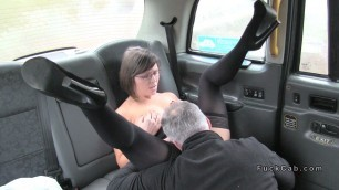 driver shoves big cock in mature woman