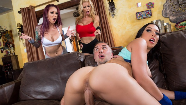 This Is A Side Piece Of Pornstars Alexis Fawx , Monique Alexander and Rachel Starr