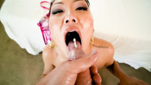 Evil Angel - Asian Pornstar Jade Luv Slobbery Deep Throat Hot Blowjob