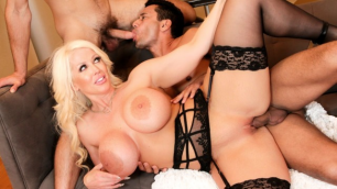Evil Angel - Bi 3-Way: Gay Guys Seduce MILF Busty Alura Jenson