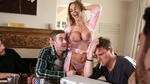Brazzers - Rebecca More' Husband Have Poker Face