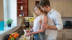 Danejones - Curly Luscious Blonde Angel Emily Fucking In The Kitchen