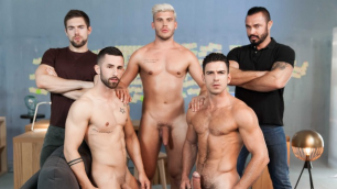 Men - Ex-Machina : A Gay XXX Parody Part 5 Big Dick Jessy Ares , Ken Rodeo , Paddy O'Brian And Other