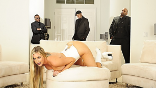 Wicked - Samantha Saint is Completely Wicked 2, Scene 5 Samantha Saint Fucks With Black Guys