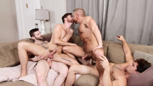 Men - The In-Laws Part 3 Aspen, Brendan Patrick, Dennis West, Dirk Caber Males Orgy