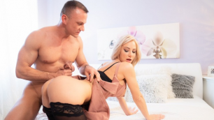 MomXXX - Nathaly's Cherie Slow Romantic Fuck In Stockings