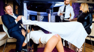 DigitalPlayground - Anissa Kate Pounded In Restaraunt Bathroom (Private Booth)