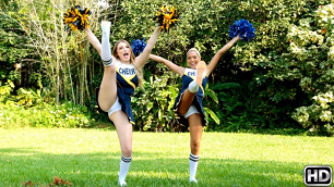 Two Nice Cheerleaders Selena Sosa And Amber Gray Playing With Each Other's Pussies
