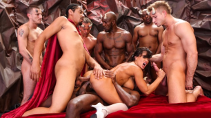 Devils Film - Lisa Ann First Time Fucks With Devils In GangBang