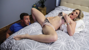 Cory Chase Looks Up From Her Bed And Sees Her Stepson in Help Me Out