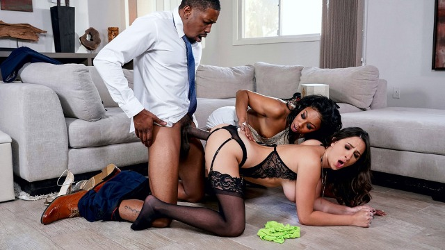 Brazzers - Slutty Babes Ashley Adams And Misty Stone In Our Cute Little Plaything 3