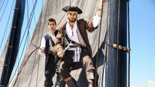 Men - Pirates : A Gay XXX Parody Part 1 Cute Guy In A Cage Diego Sans , Johnny Rapid