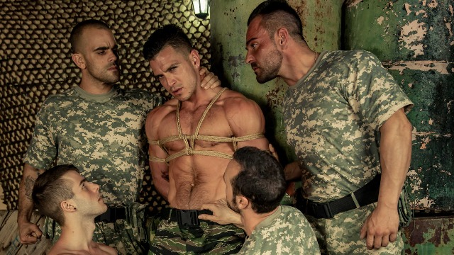 Men - P.O.W. Part 4 Some Of Hardest Cock Alex Brando , Allen King , Damien Crosse , Gabriel Vanderloo , Paddy O'Brian