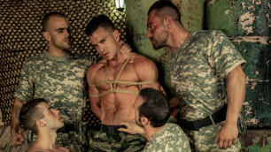 Men - P.O.W. Part 4 Some Of Hardest Cock Alex Brando , Allen King , Damien Crosse , Gabriel Vanderloo , Paddy O'Brian