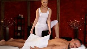 Massagerooms - Orgasmic Foot Job From Hot Babe Cristal Caitlin