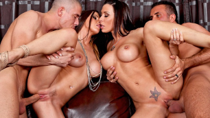 Buxom Rachel RoXXX And Rachel Starr In A Swinging Good Time
