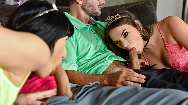 DaughterSwap - Bisexual Teens Have Orgy With Hung Dads
