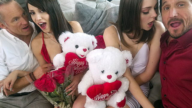 DaughterSwap - Valentines Day Orgy With Stepdaughters