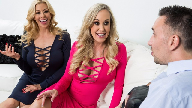 Brazzers - Sex To Go With Famous Porn Stars Alexis Fawx And Brandi Love In Internet Outage Poundage