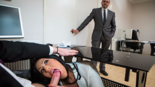 Brazzers - Horny Brunette Candi Kayne In Take Your Teen To Work Day