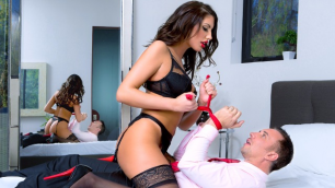 DigitalPlayground - Hot Brunette August Ames Playing Dress Up