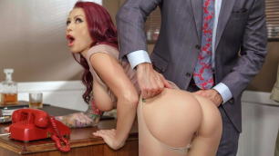 Brazzers - Bountiful Breasts Monique Alexander  In Getting Off The Typing Pool