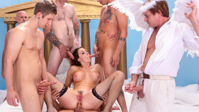Devils Film - Chanel Preston Went To Heaven And Immediately At Orgy In The Devils GangBang