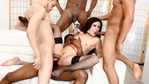 Devils Film - Only Foursome For Jennifer White In Blacked Out 7