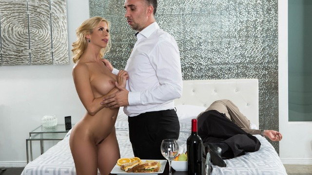 While My Husband Was Dozing Alexis Fawx Fucks With Service Man