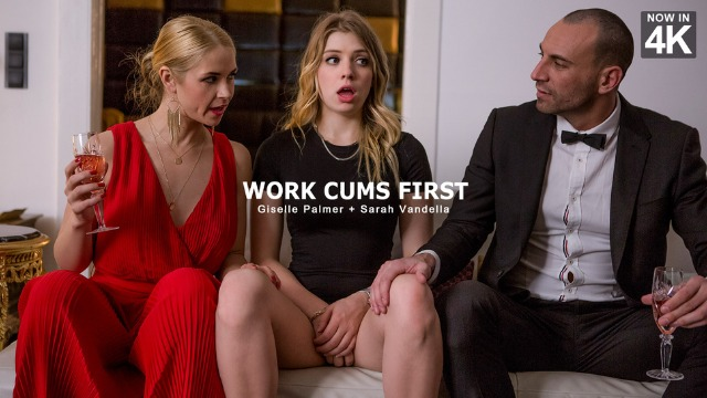 Sarah Vandella Has No Intention Of Letting Such A Gorgeous Girl Like  Giselle Palmer In Work Cums First