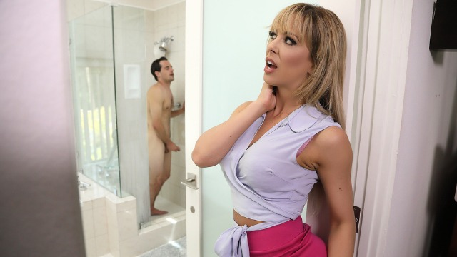Brazzers - Sneaking Around With MILF Cherie Deville's BFF's Son