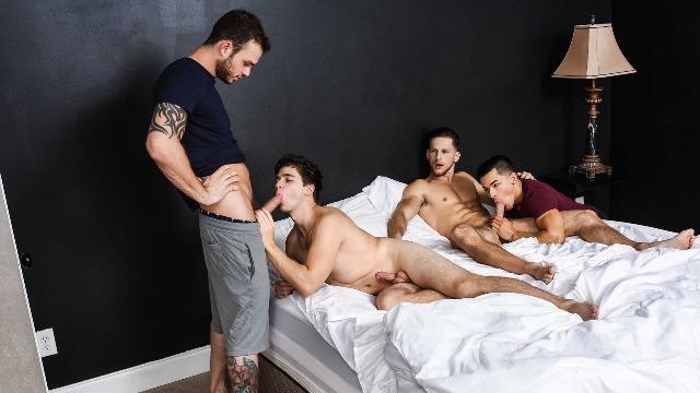 Men - Fuck Me Silly Part 3 Sex-crazed Foursome Cliff Jensen , Ethan Slade , Roman Todd , Will Braun