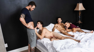 Men - Fuck Me Silly Part 3 Sex-crazed Foursome Cliff Jensen , Ethan Slade , Roman Todd , Will Braun